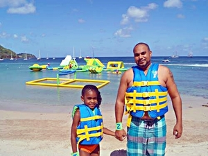St. Lucia Splash Island Beach Break, Lunch and Water Park Day Pass