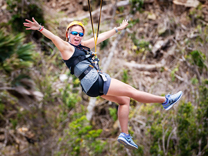 St. Maarten Sky Explorer and Sentry Hill Zip Line Excursion
