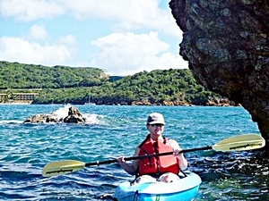 St. Thomas Ocean Kayak, Sea Turtle and Coral Reef Snorkel with Beach Break Excursion