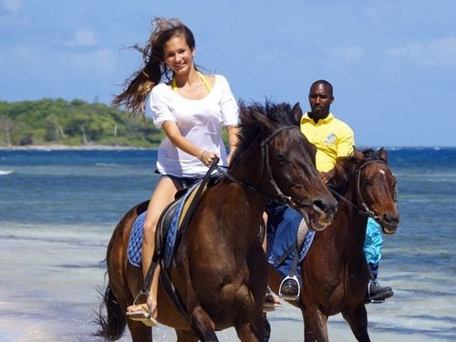Falmouth  Jamaica horse riding through water Prices