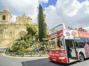 Valletta (Malta) Hop On Hop Off City Sightseeing Bus Excursion