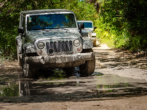 Cozumel  Mexico drive your own jeep Cruise Excursion