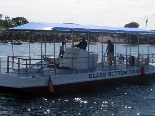 Roatan glass bottom boat Trip Cost