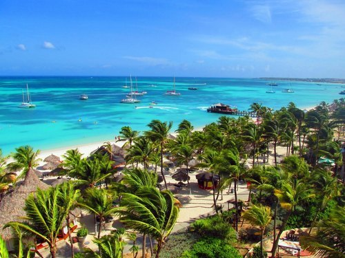 Aruba  Kingdom of the Netherlands (Oranjestad) one of the finest beach resorts Tour