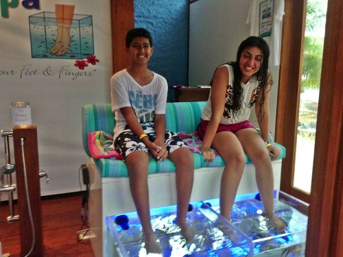 Cozumel Mexico Mr. Sanchos fish pedicure Cruise Excursion Reviews